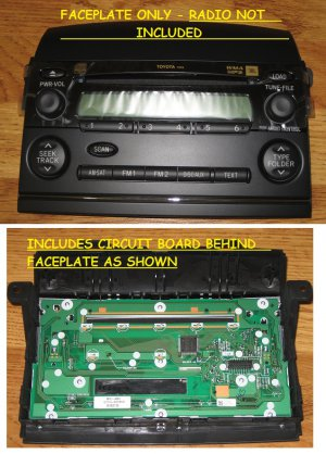 OEM FACEPLATE FOR 2004-2010 TOYOTA SIENNA 6 CD CHANGER RADIO JBL P1820 P1816