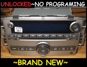 NEW UNLOCKED 2007-10 BUICK LUCERNE 6 CD CHANGER Radio 3.5mm Aux/Ipod input