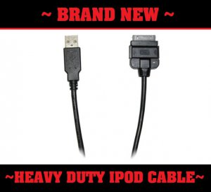 NEW Heavy Duty 3' Ipod USB Dock Harness Pioneer Clarion Sony Radio Charging data