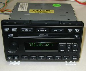 FORD 6 DISC IN DASH CD PLAYER CHANGER RADIO EXPLORER