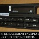 Brand New NOS FORD RADIO FACEPLATE FITS MISC- MUSTANG RANGER EXPLORER CASSETTE