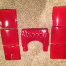 New Ceramic Panels&top For Ecoteck Monica Wood Pellet Stove Furnace Red Bordeaux