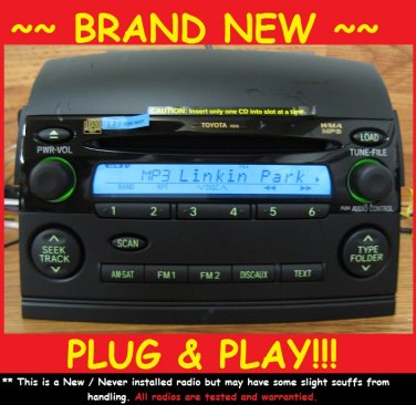 BRAND NEW TOYOTA SIENNA Radio 6 Disc MP3 CD Changer LE 2005-2009 Sat Ready 11827