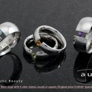 Aura Steel Tension Setting Rings