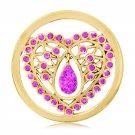 "Nikki Lissoni, rose gold, ""Pink Indian Heart"" Coin Insert"