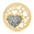 "Nikki Lissoni, Yellow Gold, ""Catch My Heart"" Coin Insert"
