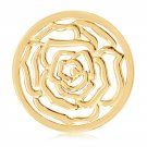 "Nikki Lissoni, yellow gold, ""Roses Are Red"" Coin Insert"
