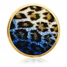 "Nikki Lissoni, yellow gold, ""Green Leopard Print"" Coin Insert"