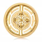 "Nikki Lissoni, yellow gold, ""Roman Maze"" Coin Insert"