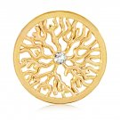 "Nikki Lissoni, yellow gold, ""Tree Roots"" Coin Insert"