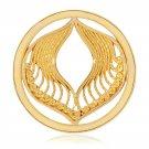 "Nikki Lissoni, yellow gold, ""Protection"" Coin Insert"