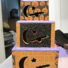 Halloween stacking boxes, lighted