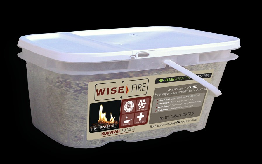 Wise Food: 1 Gallon Bucket Wise FIre ~ 1 Cup Boils 4 Cups of Water