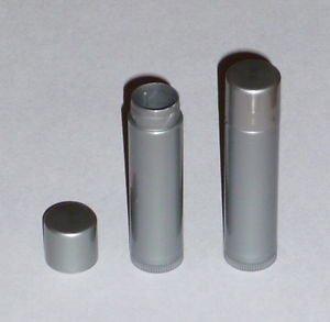 100 NEW Empty Dark Silver LIP BALM Chapstick Tubes Containers - .15 oz / 5ml