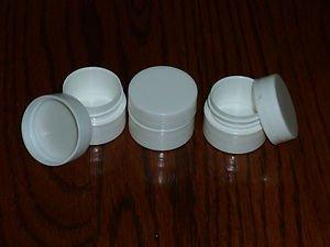 50 NEW Empty .25 oz (7ml) WHITE LIP BALM Carmex Cosmetic Cream Jars containers