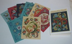 Rosemaling Notecards