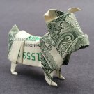 Money Origami BULLDOG - Dollar Bill Art - Made with $1.00 Cash Money