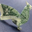 Money Origami ROOSTER - Dollar Bill Art - Made with $1.00 Cash