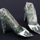 Money Origami HIGH HEELS - Dollar Bill Art - Made with $1.00 Bill