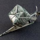 Money Origami SNAIL - Dollar Bill Art - Made with real $1 Cash