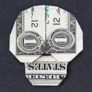 Money Origami SKULL - Dollar Bill Art - Made with Real $1.00 Cash