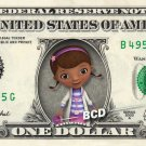Disney Jr's Doc McStuffins on REAL Dollar Bill Collectible Cash Money