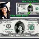 Personalized $2 Dollar Bill - Your face on a REAL $2.00!  with your PHOTO & NAME
