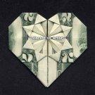 $2 Bill Money Origami HEART - Dollar Bill Art - Made with Real $2.00 Cash Gift