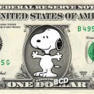 SNOOPY ( Peanuts ) on REAL Dollar Bill Collectible Cash Money