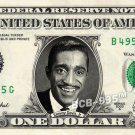 SAMMY DAVIS JR on REAL Dollar Bill - Celebrity Collectible Custom Cash