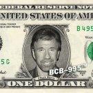CHUCK NORRIS on a REAL Dollar Bill Cash Money Collectible Memorabilia Celebrity