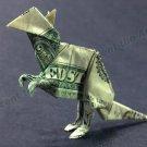 Money Origami KANGAROO - Dollar Bill Art - Made with $1.00 Cash