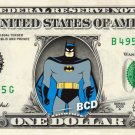 BATMAN on REAL Dollar Bill - Collectible Celebrity Cash Money Art $$