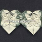 Money Origami DOUBLE LITTLE HEARTS - Dollar Bill Art - Made with $1.00 Bill