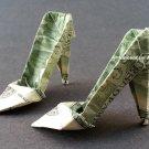 $2 Bill Money Origami HIGH HEELS - Dollar Bill Art - Made with $2.00 Bill