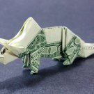 Money Origami TRICERATOPS Dinosaur - Dollar Bill Art - Made with Real $1.00 Cash