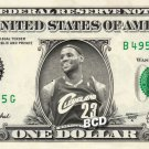 LeBron James (Cleveland Cavaliers) on REAL Dollar Bill Collectible Cash Money