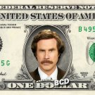 RON BURGUNDY Anchorman - Real Dollar Bill Anchor Man Cash Money Collectible Memorabilia