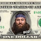 Duck Dynasty WILLIE on REAL Dollar Bill Collectible Cash Money