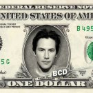 KEANU REEVES on REAL Dollar Bill Spendable Cash Celebrity Money Mint