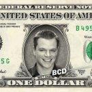 MATT DAMON on REAL Dollar Bill Spendable Cash Celebrity Money Mint