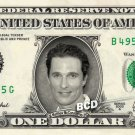 MATTHEW MCCONAUGHEY on REAL Dollar Bill Spendable Cash Celebrity Money Mint