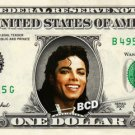 MICHAEL JACKSON on REAL Dollar Bill - MJ - Celebrity Collectible Cash
