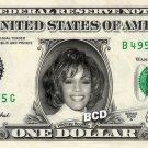 WHITNEY HOUSTON on REAL Dollar Bill Cash Money Collectible Memorabilia Celebrity