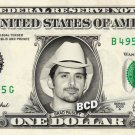 BRAD PAISLEY on REAL Dollar Bill Spendable Cash Celebrity Money Mint