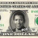 DENZEL WASHINGTON on REAL Dollar Bill Spendable Cash Celebrity Money Mint