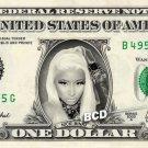 NICKI MINAJ on REAL Dollar Bill - Spendable Cash Collectible Celebrity Money