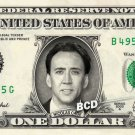 NICOLAS CAGE on REAL Dollar Bill Spendable Cash Celebrity Money Mint