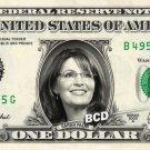 SARAH PALIN on REAL Dollar Bill Spendable Cash Celebrity Money Mint