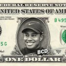 TIGER WOODS on REAL Dollar Bill - Collectible Celebrity Cash Money Art